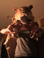 Lioness Headdress WIP by NaturePunk