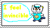 Osha the Oshawott stamp(invincible) by piplup40
