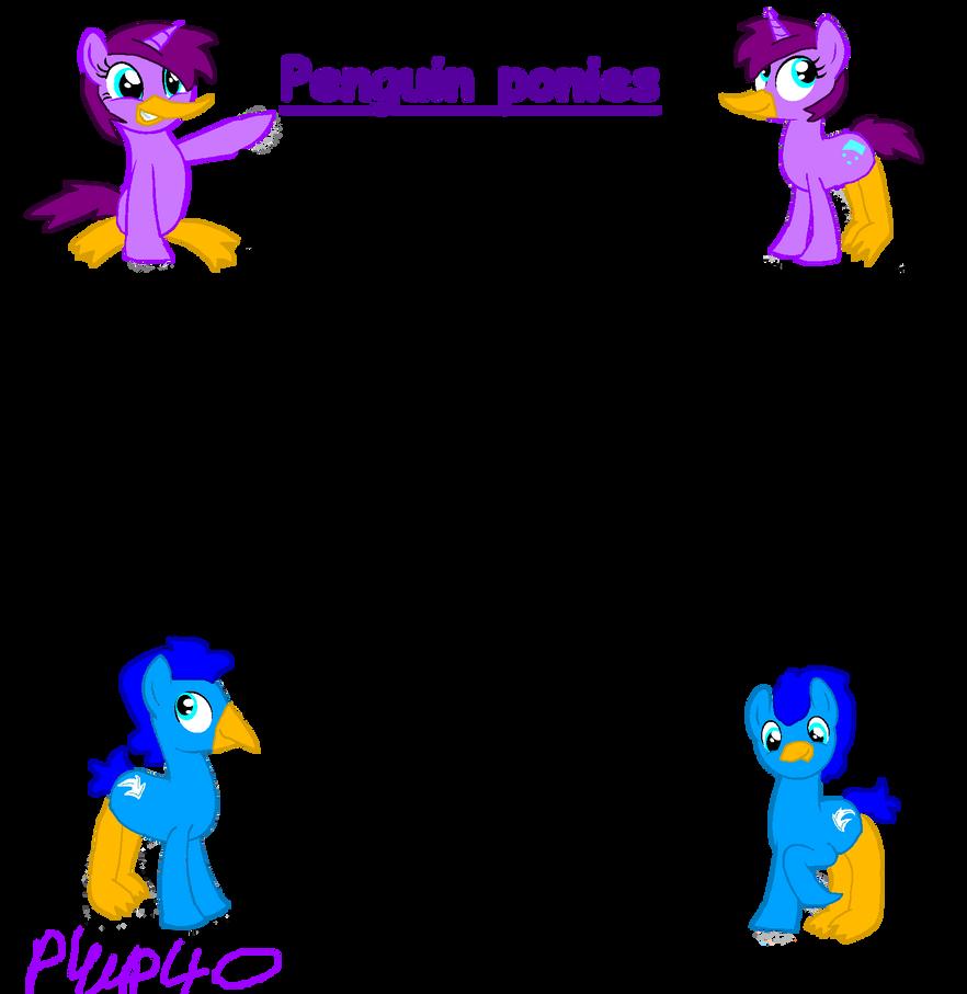 Penguin Ponies species ref by piplup40