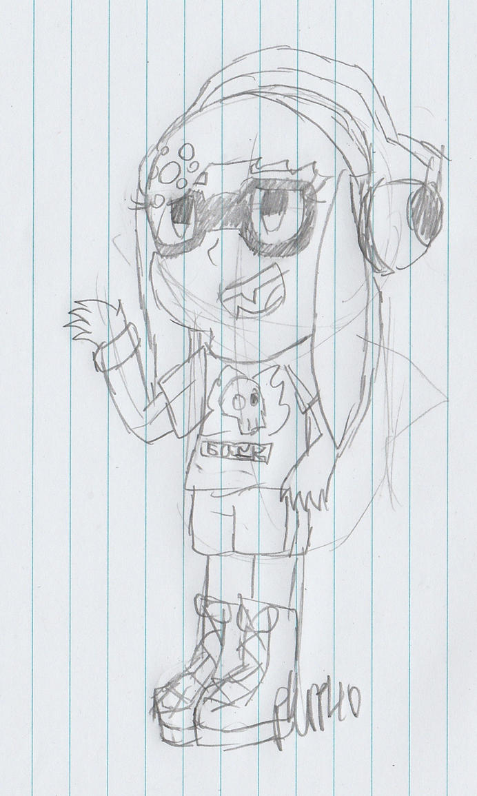 Splatfest:Rock vs Pop -Rock inspired outfit sketch by piplup40