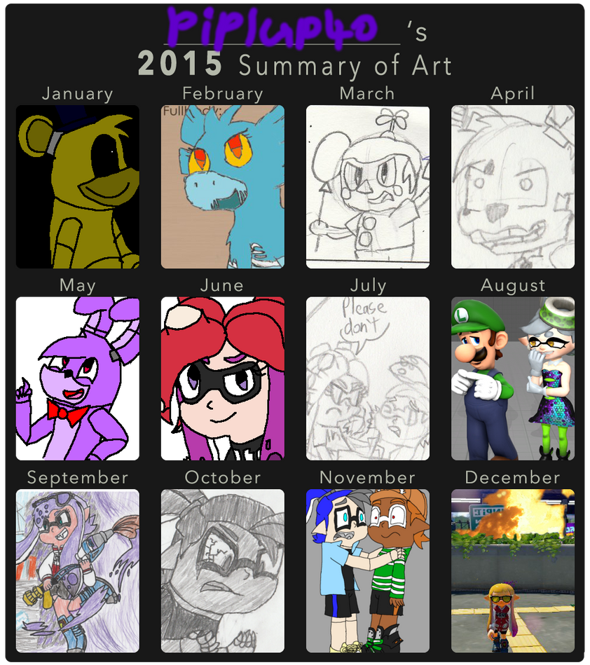2015 Summary of Art by Piplup40