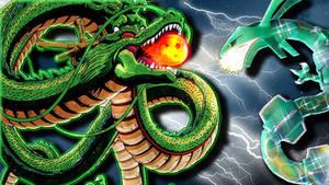 Shenron vs Rayquaza!