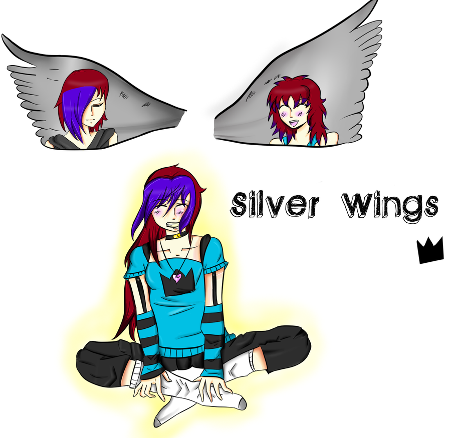 Silver Wings by HoneyMochaCat