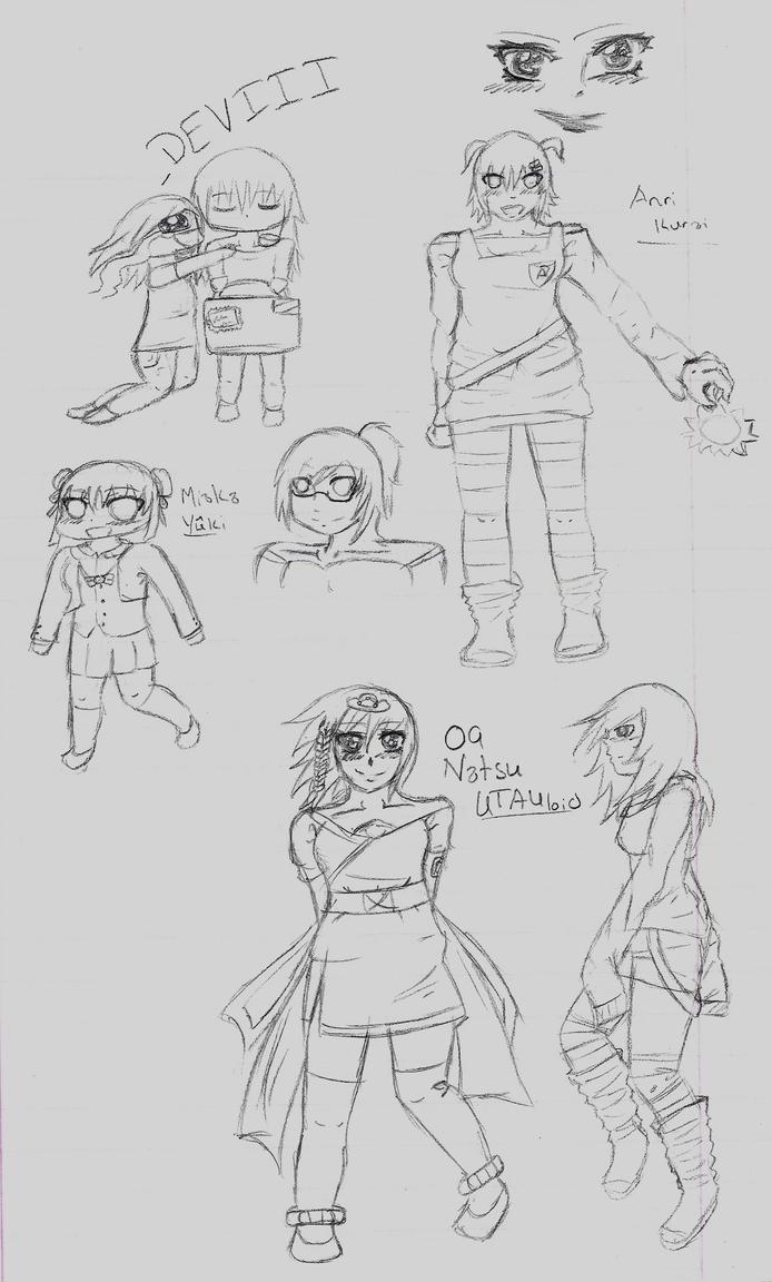 Sketch Dump2 by HoneyMochaCat
