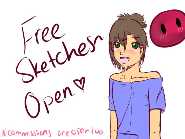 Free Sketches by HoneyMochaCat