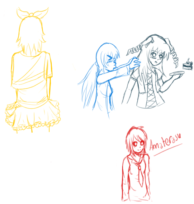 Another sketch dump by HoneyMochaCat