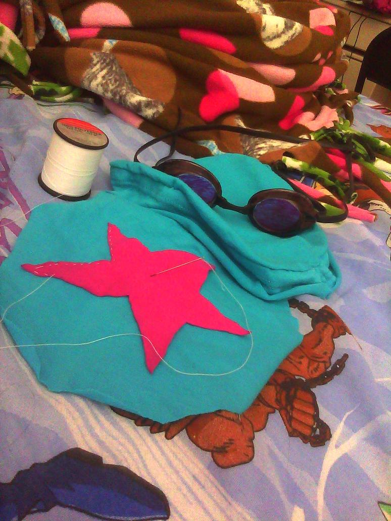 Ramona bag and goggles WIP by HoneyMochaCat