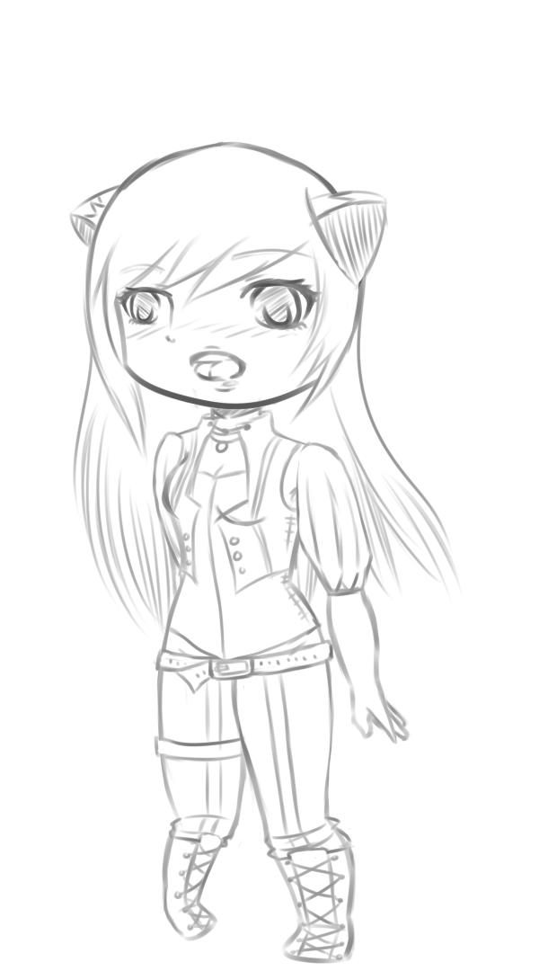 Tovi Chibi Sketch by HoneyMochaCat