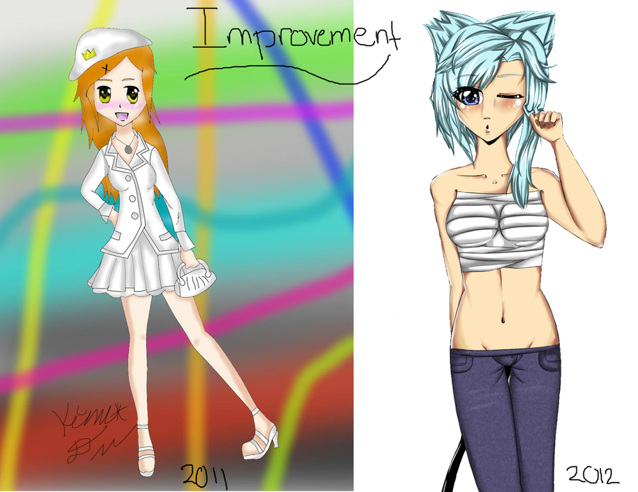 Look at my improvementttt by HoneyMochaCat