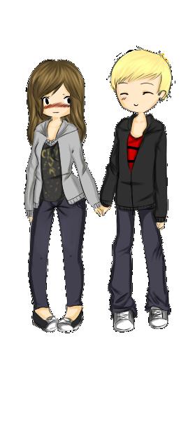 Kimmy and Trey by HoneyMochaCat