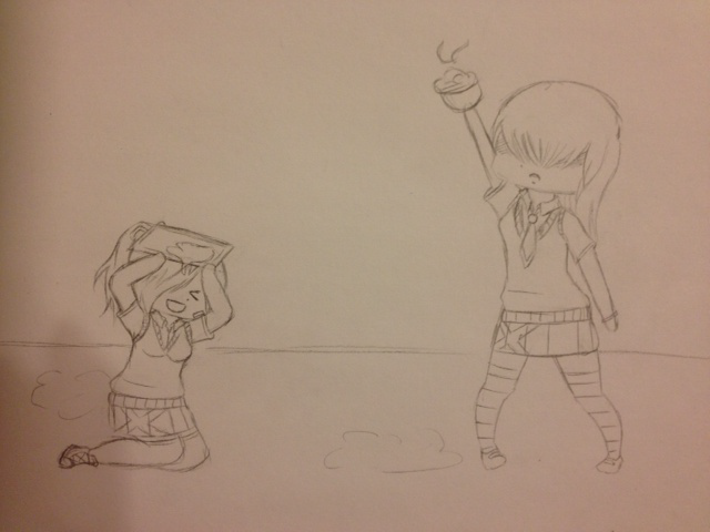 Crayon Academy Collab sketch by HoneyMochaCat