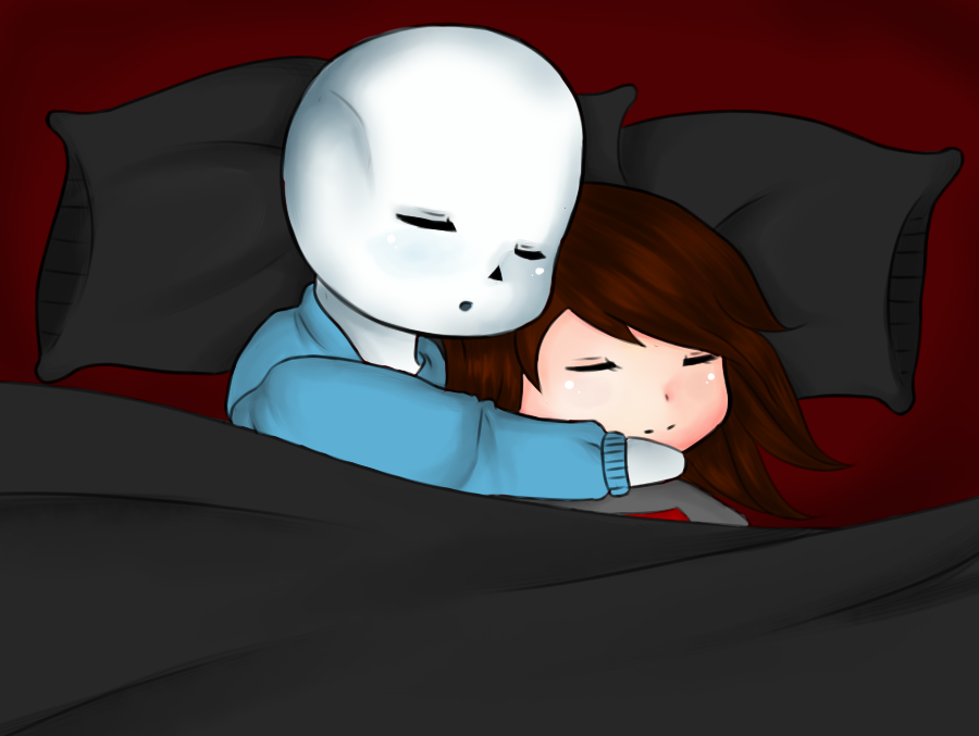 Sans and Fionna by HoneyMochaCat