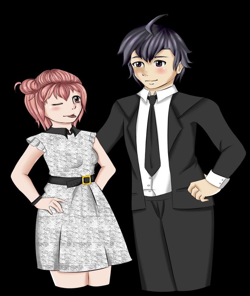 Hachiman and Yui by HoneyMochaCat