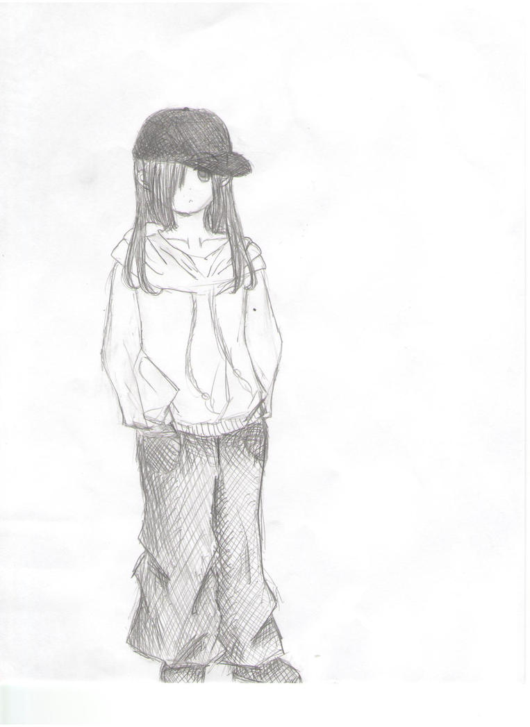how to draw a tomboy anime girl