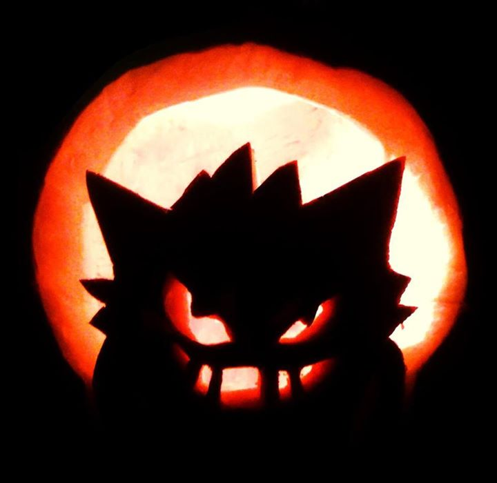 Jack o 39 lantern 2013 gengar by whimsicalfolly on deviantart for Pokemon jack o lantern template