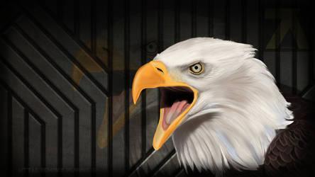 Eagle Digital Painting wallpaper by ZaykoO