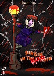 -P: Singing in the BLOOD rain- by Frandoll-Scarlet