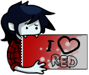 -Stamp: I love RED Marshall Lee Edition- by Nega-Lara