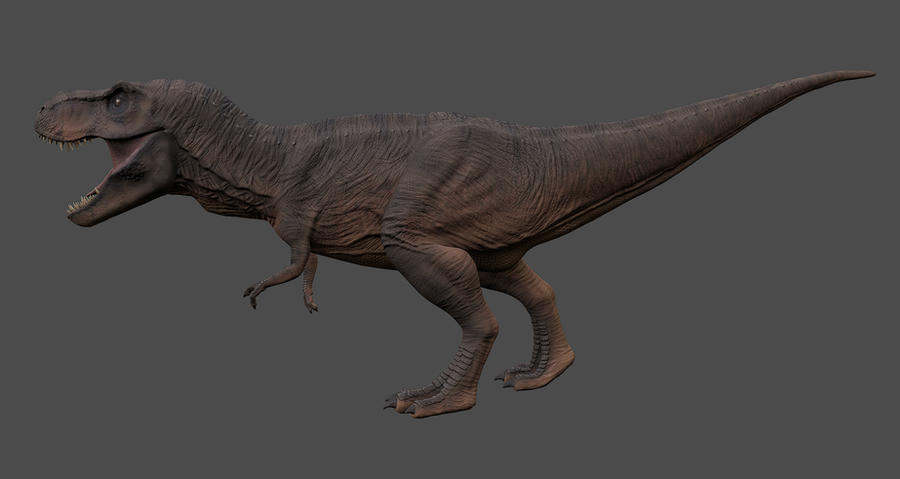 T Rex Side View By Thegreyman1 On Deviantart