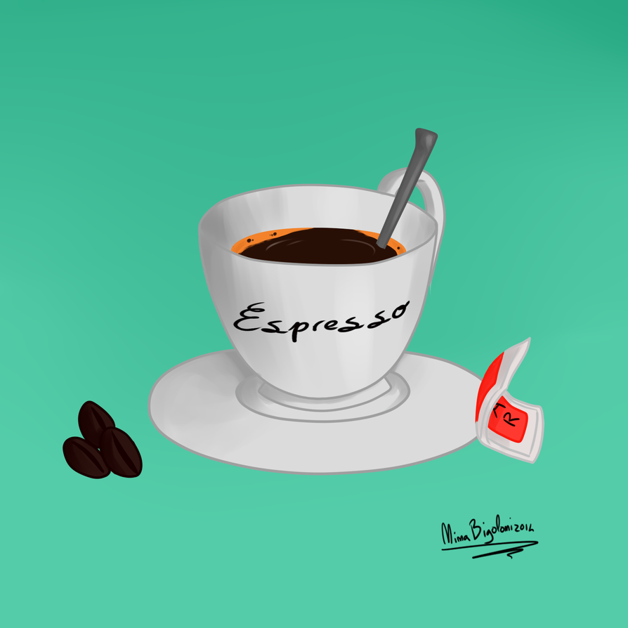 Art Jam #43: Espresso Coffee by ninaqueenbee