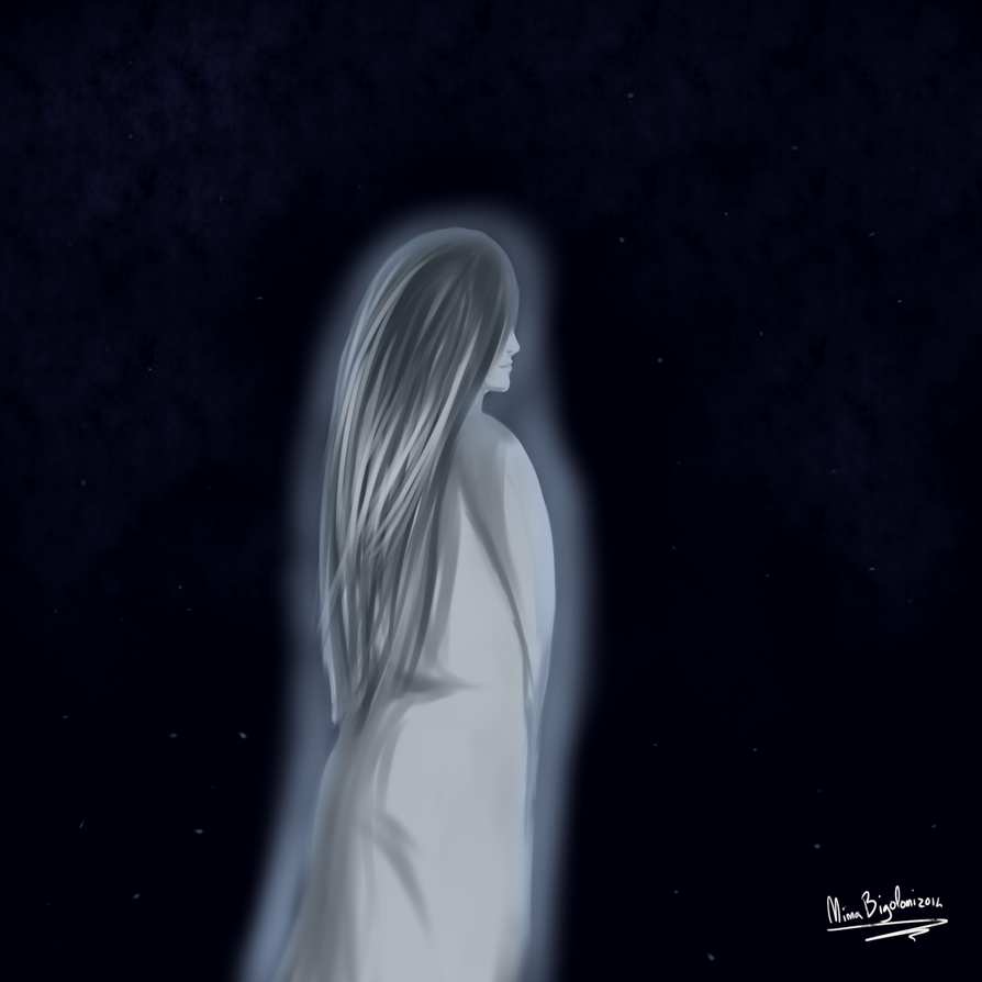 Art Jam #45: ghost lady thing by ninaqueenbee