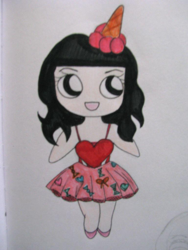 Katy perry chibi drawing