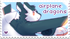 airplane dragon stamp