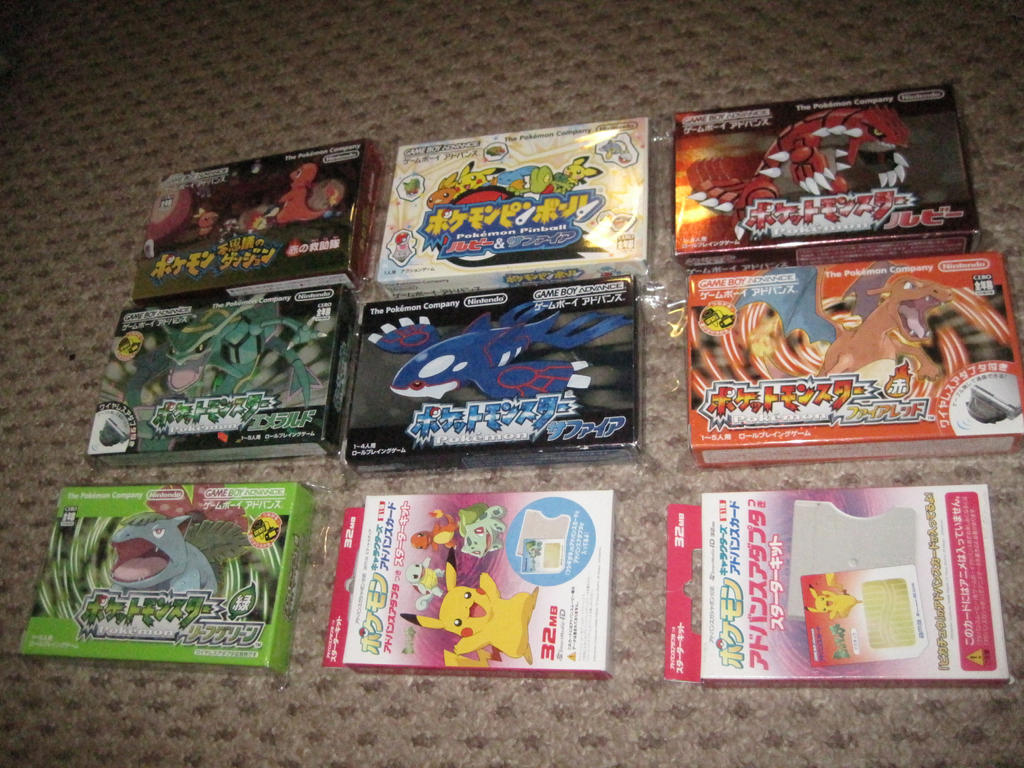 Every Japanese Pokemon Gameboy Advance (GBA) Game by