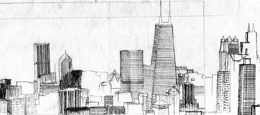 city skyline sketches - photo #24