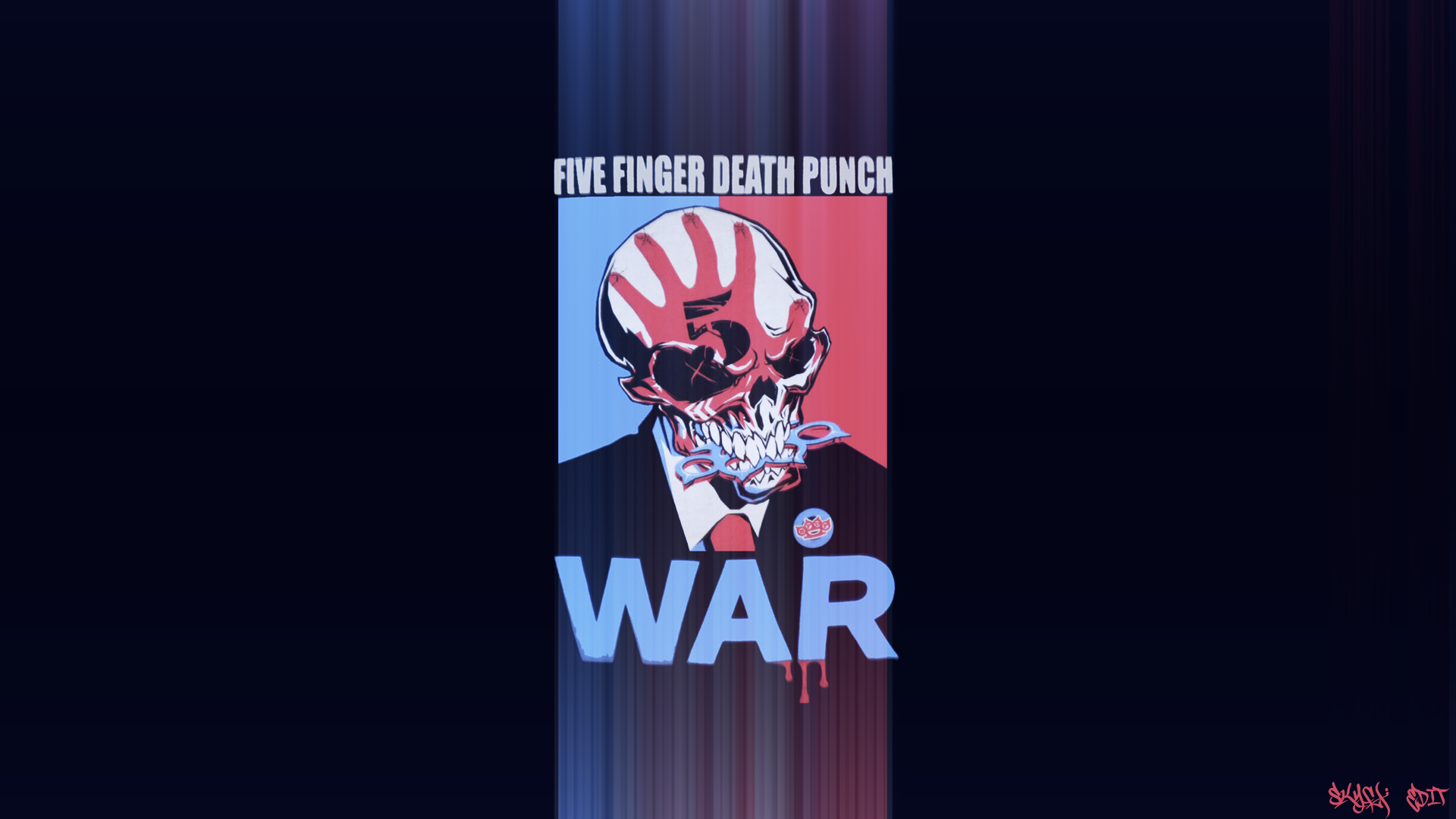 Five Finger Death Punch War Wallpaper Edit By Theskyfx On Deviantart