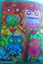 Owl Coloring Book: Owl Family