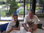 Me and my dad at his work