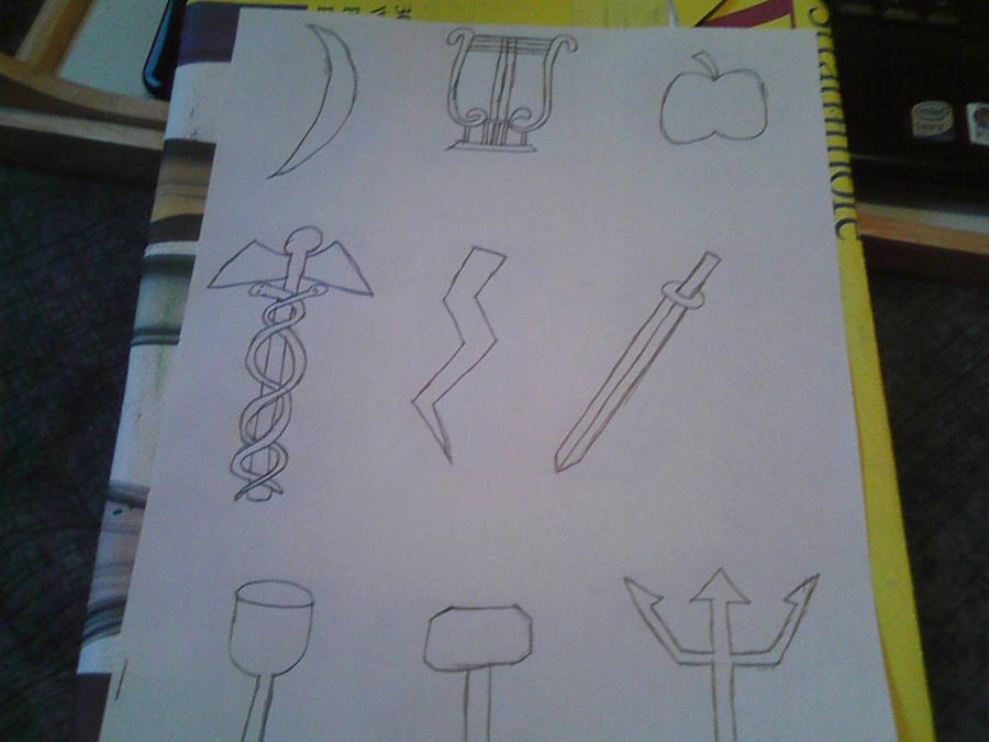 Greek God And Goddess Symbols By Adurnadragonrider On Deviantart