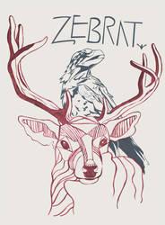 Zebrat: Raven and Stag Illustration