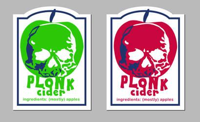 Plonk Cider Label