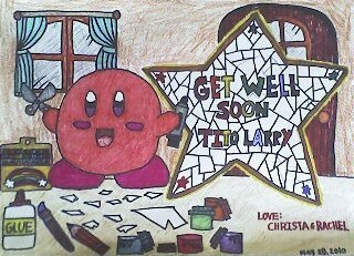 Kirby's Get well Card For Tito Larry by KambalPinoy