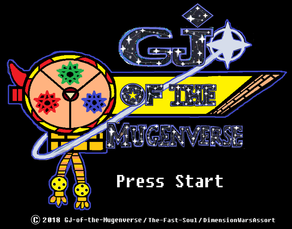 GJ of the Mugenverse Logo and Title Screen by KambalPinoy