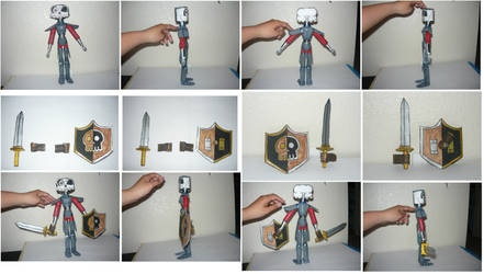 Pics of my homemade action figurine of Sir Dan by KambalPinoy