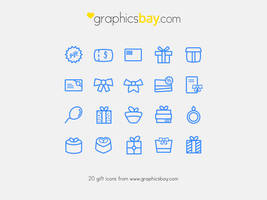 Exclusive 20 gift icons - Freebie by GraphicsBayResources