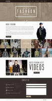 Fashion single page PSD by GraphicsBayResources