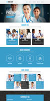 Medical free PSD template by GraphicsBayResources