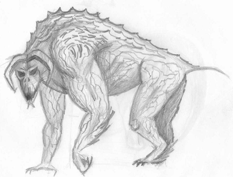 Heitra - The GranDeva [Done, hopefully] Alligator_gorilla_inspired_demon_concept_by_mechanicalgraphite-d5ed740
