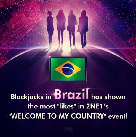 2NE1 no Brazil by LuannaMaria