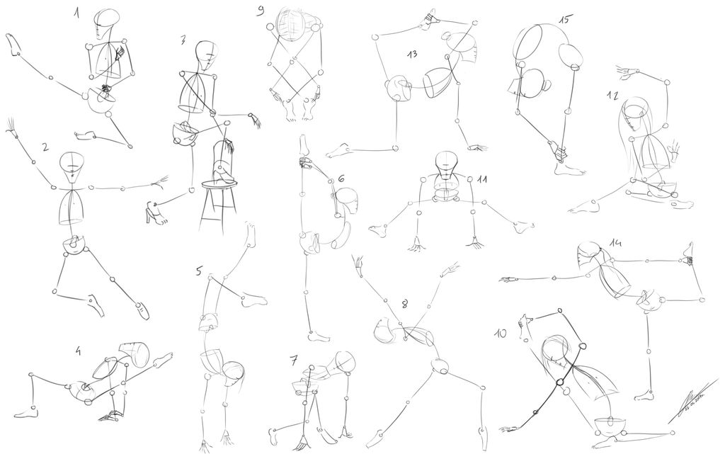 Simplified Human Body Proportions Dynamic Poses By Podkowa97 On Deviantart