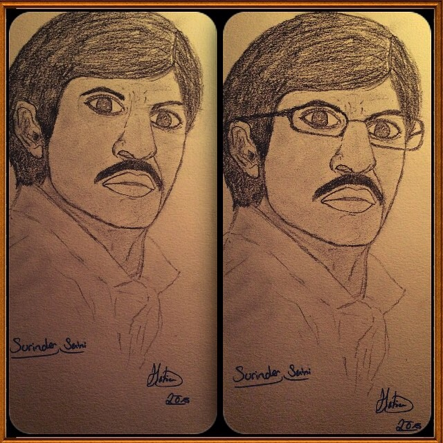 Surinder shahruhk by HatceDrawings