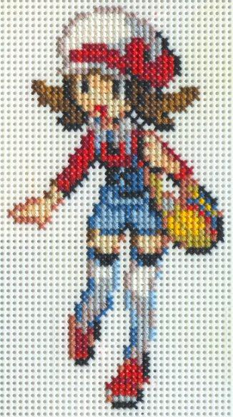 X-Stitch Fanart- Kotone by missy-tannenbaum