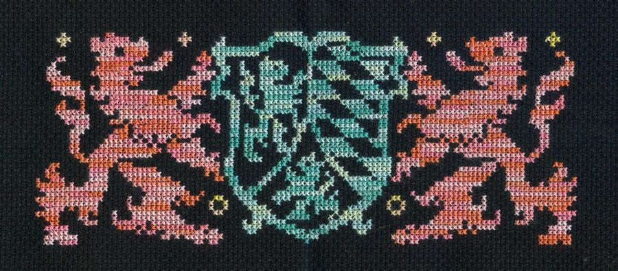 19th Century X-Stitch Heraldry by missy-tannenbaum