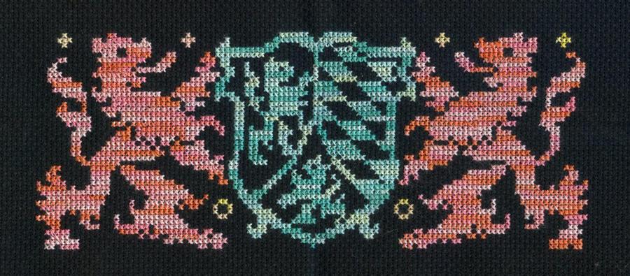 19th Century X-Stitch Heraldry by missy-tannenbaum