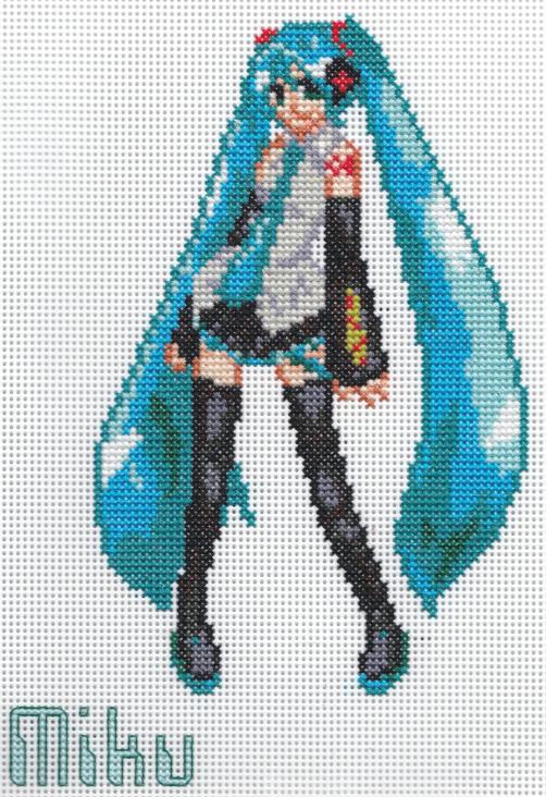 X-Stitch Fanart- Miku Hatsune by missy-tannenbaum
