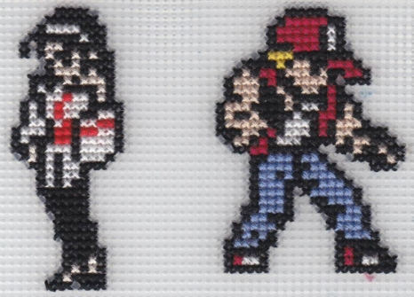 X-Stitch Chizuru and Terry by missy-tannenbaum